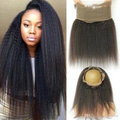 8a Grade 360 Frontal Lace Closures 100% Virgin Unprocessed Human Hair With Baby Hair 12 Pouces