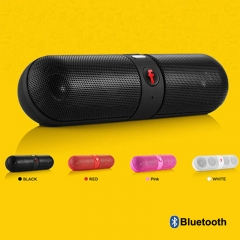 Kill Price-Portable Capsule Wireless Stereo HIFI  Bluetooth  Speaker-With Card Reader As Gift blue mini