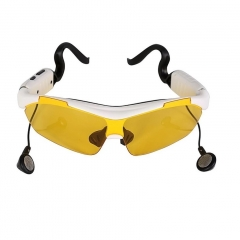 Smart Glasses With Touch Function Bluetooth Sunglasses Handsfree Wireless Headphone Music yellow 18cm