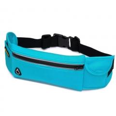 Outdoor Waterproof Multi-functional Men Women Sport Waist Bag Running Belt Mountaineering Bag blue