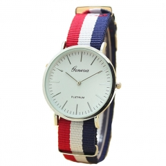 Men Male Quartz Watch Fashion Casual Geneva Fabric Nylon Canvas Military Wrist Watch 1