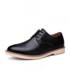 Men Dress Shoes Designer Classic Genuine Leather Wingtip Carved Italian Formal Oxfords black 39