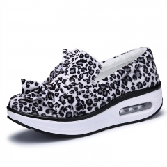 Women Leopard Print Shoes Moccasins Mary Jane Shoes Flats white 38