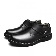 Steampunk Style Shoes Graceful Classic Men Single Monk Strap Dress Shoes Leather Shoes black 38