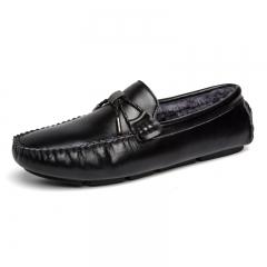 Summer Burgundy Fresh Men'S Elegent Genuine Leather Drivning Shoes Classical Snappy Shoe black 39