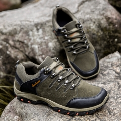Professional Mountain Boots Men Waterproof Climbing Shoes Hiking Shoes Outdoor grey 43