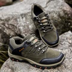 Professional Mountain Boots Men Waterproof Climbing Shoes Hiking Shoes Outdoor grey 43
