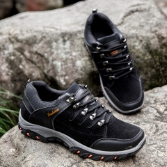 Professional Mountain Boots Men Waterproof Climbing Shoes Hiking Shoes Outdoor black 43