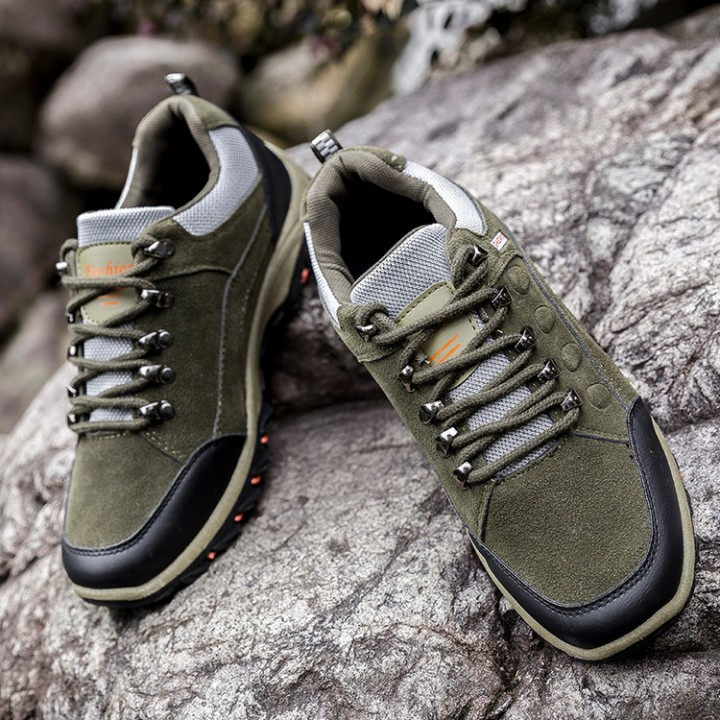 Hiking Boots Outdoor Sports Shoes Men Boots Breathable Walking Mens Trekking Shoes Hiking Shoes green 42