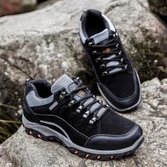 Hiking Boots Outdoor Sports Shoes Men Boots Breathable Walking Mens Trekking Shoes Hiking Shoes grey 41
