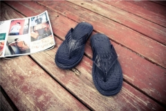 2017 Summer Crocodile Mens Flat Slippers Men Flip flop Beach Sandals Shoes Massage Flip Flops silver 45
