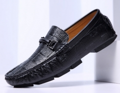 Swag Horsebit Loafers Male Urban Men Driving Shoes Luxury Brand Shoes Summer Men Shoes black 43