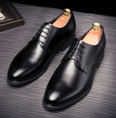 High Quality British Style Slip-on Business Men Shoes Wedding Shoes, Men Dress Shoes Wingtip black 39