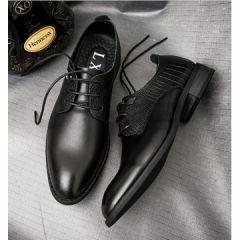 Luxury Classic Vintage Mens Genuine Leather Black Formal Designer Shoes black 39
