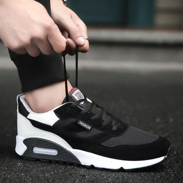 2017 Mens Running Shoes Breathable Male Outdoor Walking Sport Shoes New Man Athletic Sport Sneakers black 43
