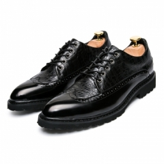 2017 New Arrival Spring British Style Leather Burgundy Business Men Dress Shoes black 39