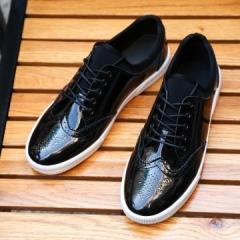 Exotic Summer Men Oxfords Shoes Moccasins Soft Flat Driving Loafers Hip Hop Cool Men Shoes black 39