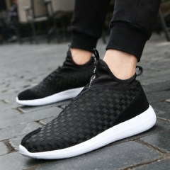 2017 New Arrival Spring Men Casual Shoes Mens Trainers Breathable Mesh Shoes Male Hombre Hip Hop black 44