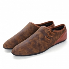 2017 Spring Hip Hop Style Mens Dress Shoes Leather Mens Slip Ons High Quality Soft brown 39