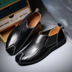 2017 Men Chelsea Shoes Autumn Shoes Chelsea Boots  Men's Casual Shoes Brand Ankle Boots Male black 39