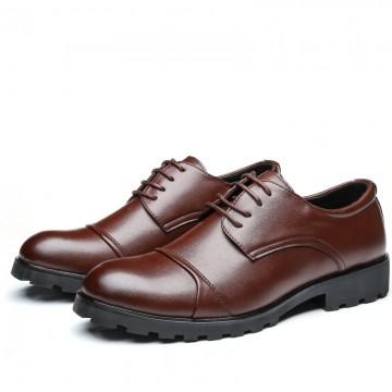 Mens Wedding Shoes.2017 Elegant Men Business Shoes Men Wedding Shoes Mens Formal Derby Dress Formal Meeting Shoes Brown 41