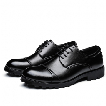 2017 Elegant Men Business Shoes Men Wedding Shoes Mens Formal Derby Dress Formal Meeting Shoes black 41