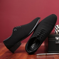 New Man Business Casual Shoes Man Breathable Gentle Formal Lace-Up Shoes black 43