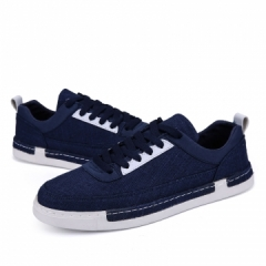 Outdoor Walking Men Sports Shoes Comfortable Casual Fashion Breathable Casual Flats Men Trainers blue 40