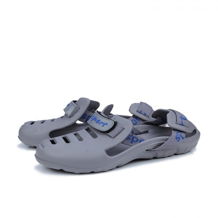 Summer Shoes Men Sandals Brand Slippers Men Beach Sandals Outdoor Slip On Mens Casual Slippers grey 39
