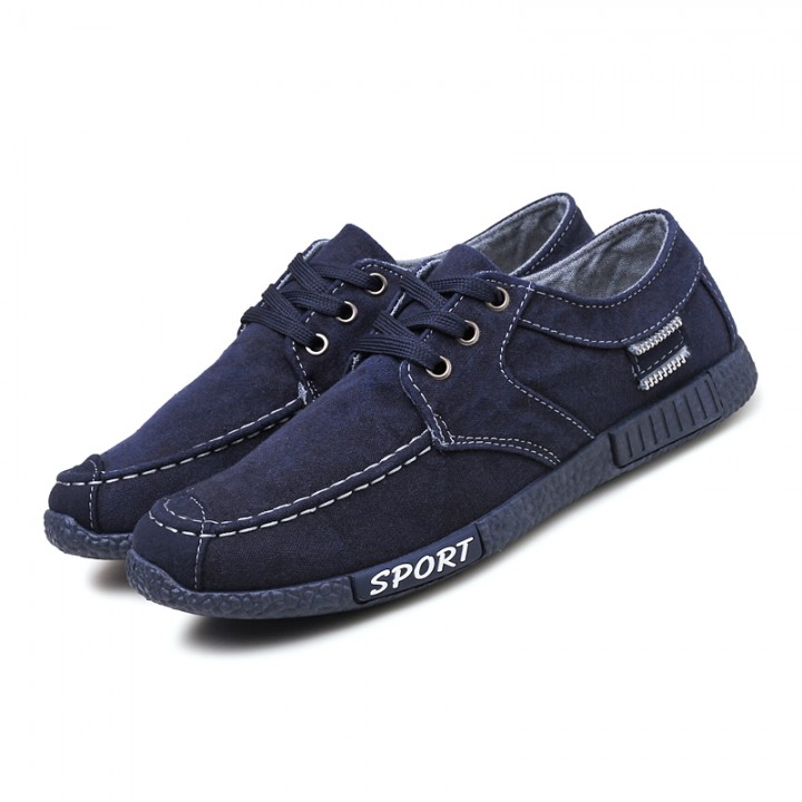 New Spring Summer Men Shoes 2017 Fashion Breathable Denim Shoes Slip on Mens Casual Shoes Male Jeans blue 40