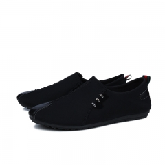 Autumn Spring Men's Casual Shoes Moccasins Men Loafers Summer Fashion Male Boat Shoes black 44