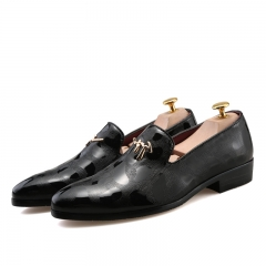 Men Pointed Toe Oxford Shoes Slip On Casual Business Men Dress Shoes black 39