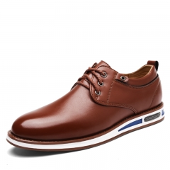 New Spring Fashion Oxford Business Men Shoes Soft Casual Breathable Men's Flats brown 39