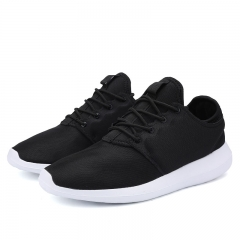 Men Casual Shoes Breathable Lace-Up Walking Shoes Spring Lightweight Comfortable black 44