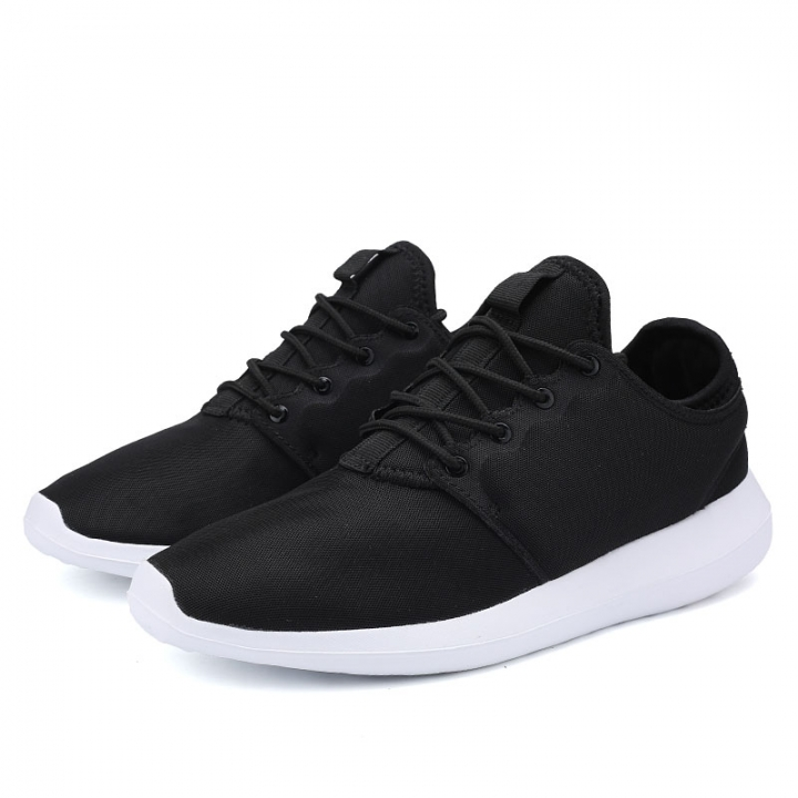 Men Casual Shoes Breathable Lace-Up Walking Shoes Spring Lightweight Comfortable black 39