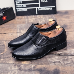 Men Shoes Casual Leather Formal Dress Monk Buckle Straps Brogues Shoes black 39