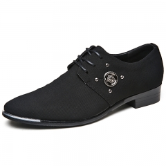 2017 Italian Style Men Oxfords Shoes Leather Pointed Toe Dress Business Formal Shoes black 39