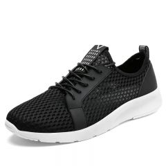 Big Size 39-48 Summer Holes Mesh Sneakers New Men Light Breathable Running Shoes black 39