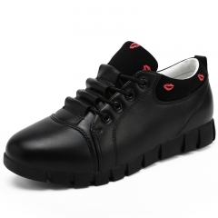 New Women Shoes Spring Summer Soft Ladies Flat Shoes Causal Lace Up Female black 35