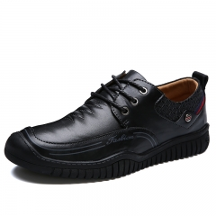 Warm Winter Men Shoes Genuine Leather Fashion Men's Casual Shoes Male Formal Height Increasing black 39