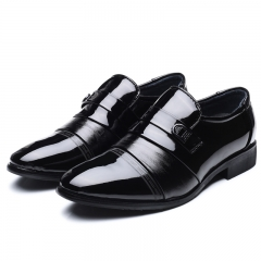 Leather Black Mens Dress Shoes Oxford Shoes For Men Slip On Office Business Men Shoes black 42