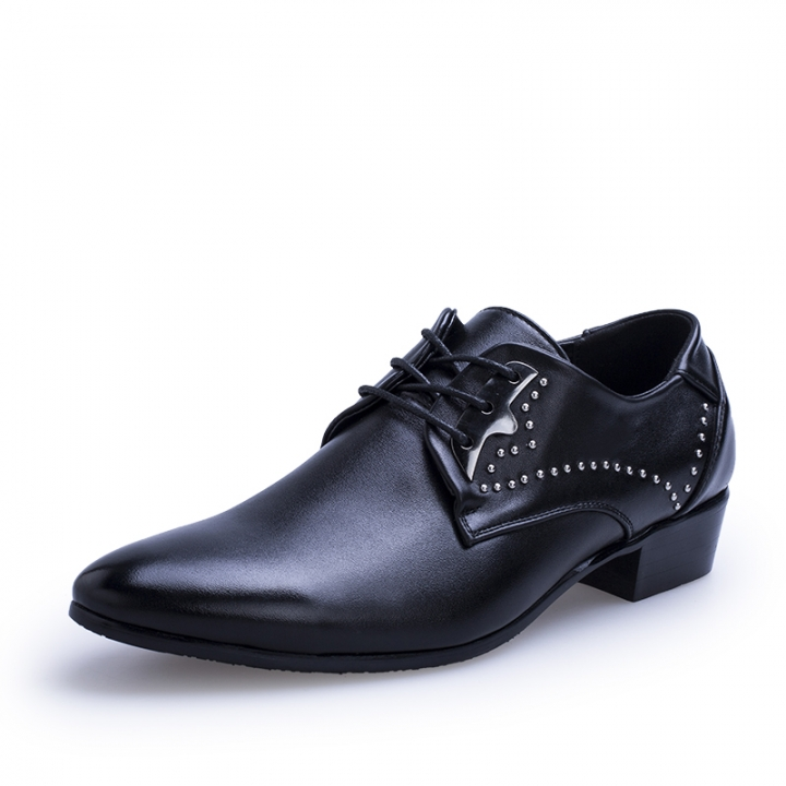 Handmade Men Gentleman Luxury Shoes Pointed Toe Men Dress Shoes Business Men's Flats black 39