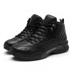 Winter Casual Shoes Breathable Basketball Shoes For Men High Top Air Sports Sneakers Trainers Basket black 39