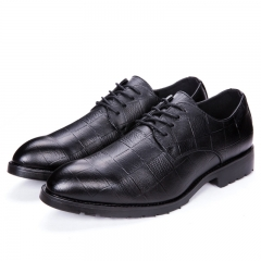 Business Men Casual Shoes Handmade Breathable Comfortable Oxfords Formal Shoes Gentleman black 38