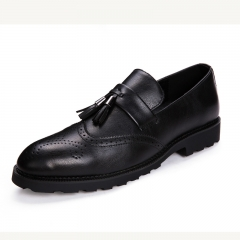 Elegant Men Dress Shoes Quality Men Formal Loafer Business Oxford Shoes Party black 38