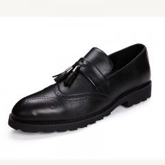 Elegant Men Dress Shoes Quality Men Formal Loafer Business Oxford Shoes Party black 38