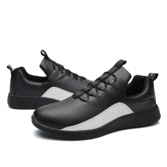 Outdoor Running Sport Shoes Lace-Up Sport Trainers Rubber Soft Bottom Breathable Sneakers for Men black 39