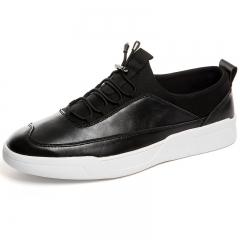 Autumn New Classic Style Men Casual Shoes Fashion Simple Designer Men Shoes Light Comfortable Flats black 39