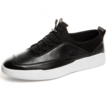 Autumn New Classic Style Men Casual Shoes Fashion Simple Designer Men Shoes Light Comfortable Flats black 39