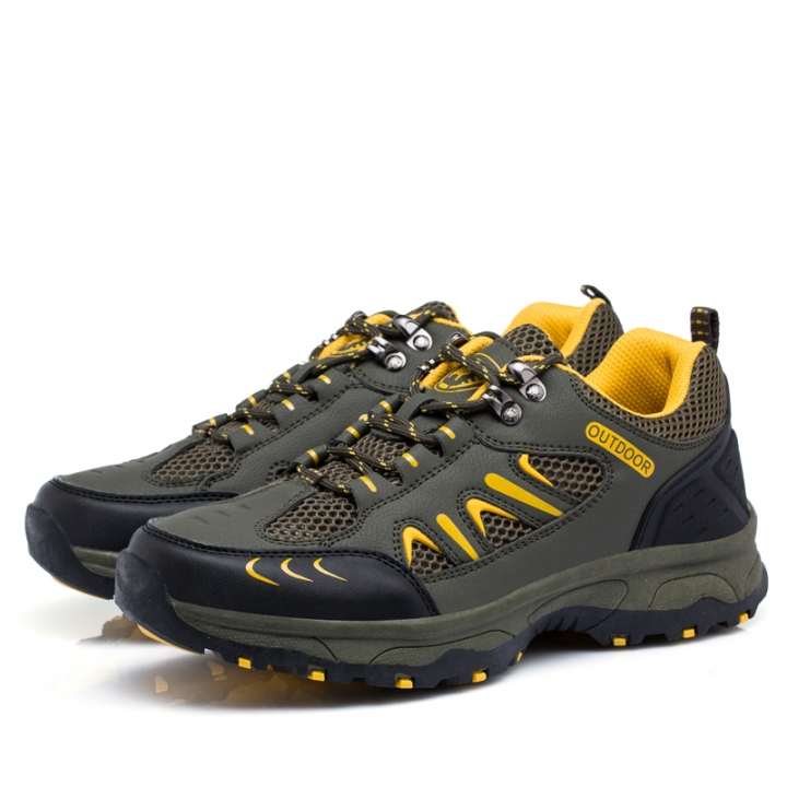 Outdoor Men Trekking Shoes Hiking Sneakers Sport Shoes Breathable Climbing Man Mountain Boots green 39